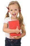 登记拿着小的幼稚园的女孩 库存照片