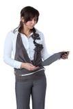 登记查找妇女的商业 免版税库存图片