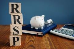 登记的退休储蓄计划RRSP或RSP 库存照片