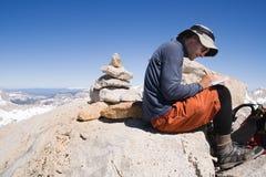 登记签署的山顶 免版税库存照片