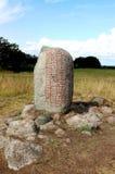 登记诗歌石头瑞典 库存照片