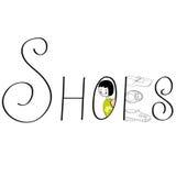 登记鞋子 向量例证
