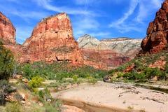 登陆国家公园zion的天使 免版税图库摄影