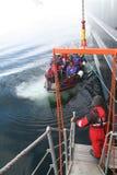 登陆极性返回的船的小船巡航 免版税图库摄影