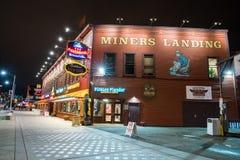 登陆西雅图华盛顿的矿工 库存照片