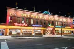 登陆西雅图华盛顿的矿工 免版税库存图片