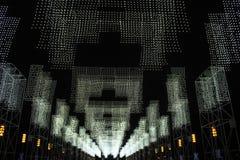 黑白下垂照明 免版税图库摄影