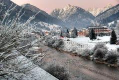 白云岩意大利冬天 库存图片