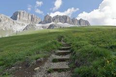 白云岩的山全景 免版税库存照片