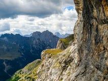 白云岩阿尔卑斯意大利 库存图片