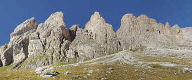 白云岩阿尔卑斯,全景风景 免版税图库摄影