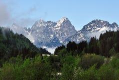 白云岩阿尔卑斯 图库摄影