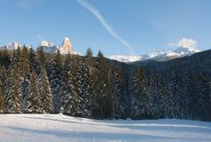 白云岩,北意大利 免版税图库摄影