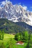 白云岩 意大利阿尔卑斯 图库摄影