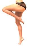 白人妇女腿 免版税库存图片