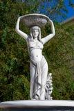 白人妇女雕象 库存照片