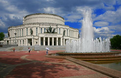 白俄罗斯、米斯克、国家歌剧院和芭蕾舞团 免版税库存图片