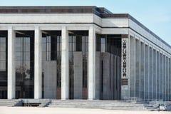 白俄罗斯共和国的文化大厦宫殿有米斯克的首都的 免版税库存图片