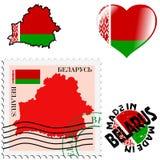 白俄罗斯的全国颜色 免版税库存图片