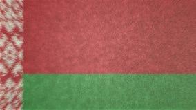 白俄罗斯的旗子的原始的3D图象 皇族释放例证