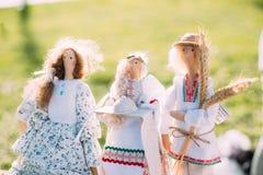 白俄罗斯语伙计玩偶 全国传统民间玩偶是普遍的 库存照片