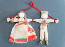 白俄罗斯语传统全国玩偶`爱情鸟` 免版税库存图片