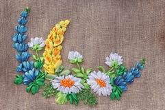 白俄罗斯语刺绣。 免版税库存照片