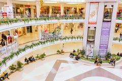 白俄罗斯语的购物中心Stolitsa在米斯克 免版税库存图片