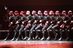 白俄罗斯,市戈梅利, 23 03 2017年 英王乔治一世至三世时期全国芭蕾音乐会  免版税库存图片