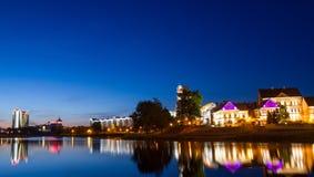 白俄罗斯,米斯克,三位一体郊区 图库摄影
