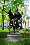 白俄罗斯,米斯克,舞蹈家,歌剧院雕塑  免版税库存照片