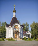 白俄罗斯,米斯克, Tarasovo :诞生的东正教-教堂 免版税库存图片