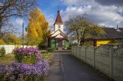 白俄罗斯,鲍里索夫:老信仰正统Pokrovskaja教会 库存图片