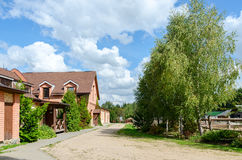 白俄罗斯, Dudutki,民间工艺和技术博物馆  ST 免版税库存照片