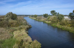 白俄罗斯:在解决Stolbtsy附近的河Neman 库存图片
