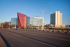 白俄罗斯Potash Company,现在办公室开发银行,米斯克白俄罗斯的前大厦 免版税库存照片
