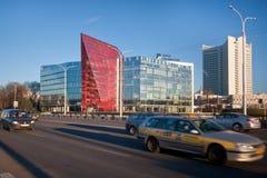 白俄罗斯Potash Company,现在办公室开发银行,米斯克白俄罗斯的前大厦 库存照片