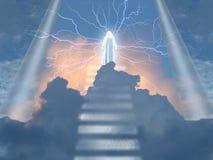白修士在天堂 向量例证