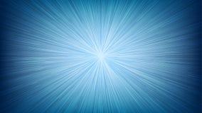 白光速度线在蓝色背景的爆炸光芒 向量例证