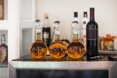 白兰地酒和酒 免版税库存照片