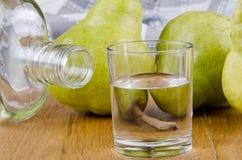 白兰地酒果子玻璃 免版税库存照片