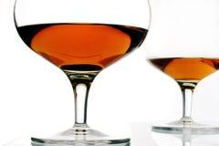 白兰地酒玻璃 图库摄影
