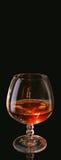 白兰地酒的杯 库存照片