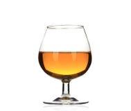 白兰地酒被隔绝的科涅克白兰地玻璃 库存图片