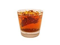白兰地酒鸡尾酒冰石灰 免版税库存图片