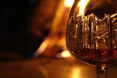 白兰地酒e fuoco 图库摄影