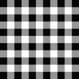 黑白几何方形的无缝的样式 库存例证