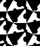 黑白几何无缝的样式,抽象背景 免版税库存照片