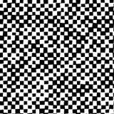 黑白变形方格的抽象背景 皇族释放例证