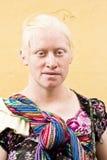 白变种玛雅妇女 免版税库存照片